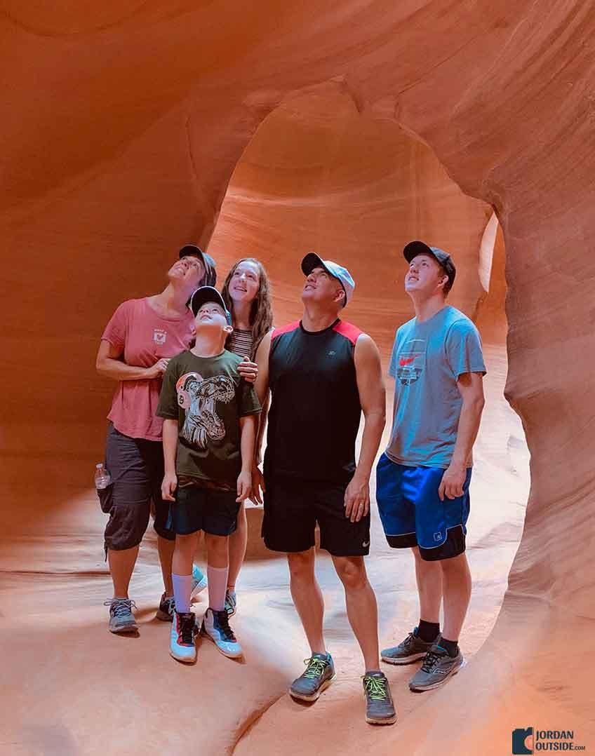 Jordan and Family at Lower Antelope Canyon