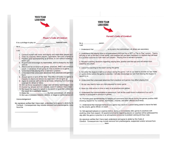 Code of Conduct Templates - Dominate the Diamond