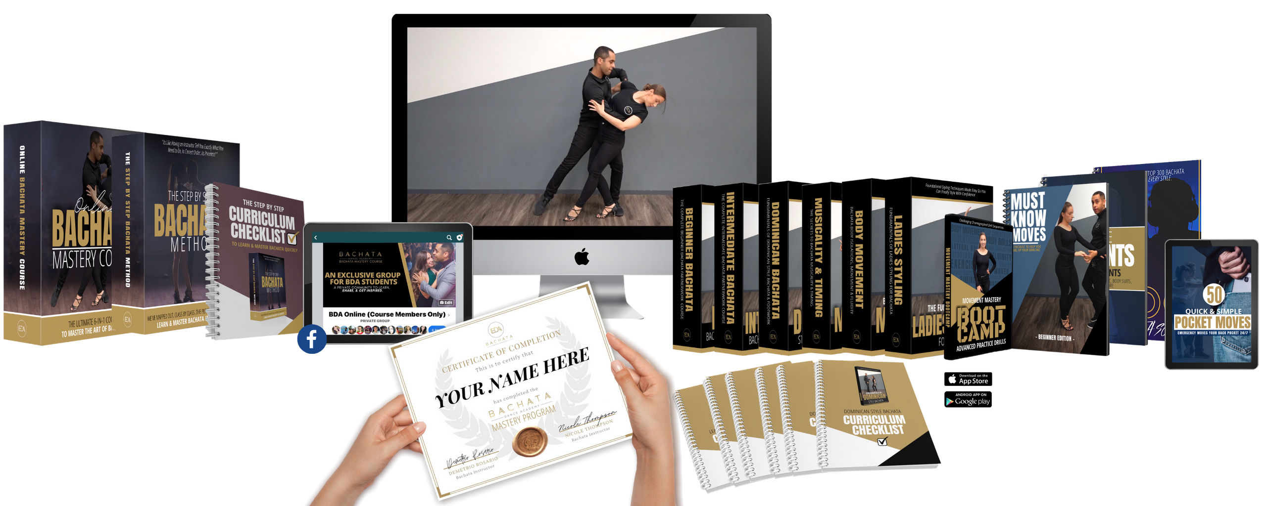 The Complete Bachata Mastery Course Online - What You'll Get
