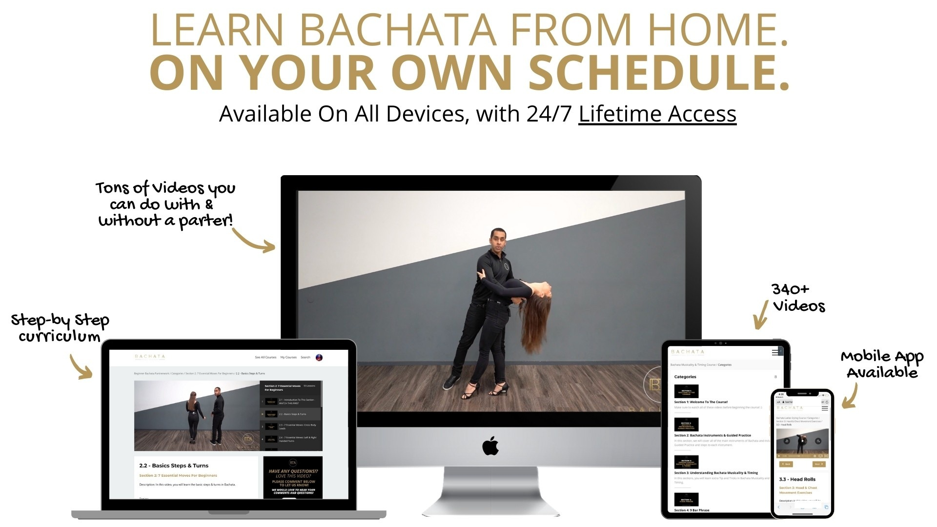 Bachata Courses Available On mobile app