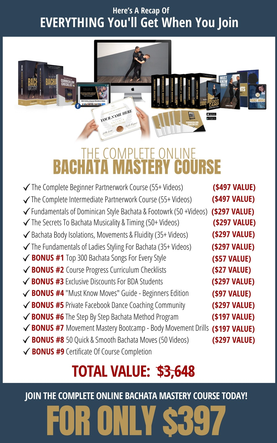 The Complete Bachata Mastery Course Online Price