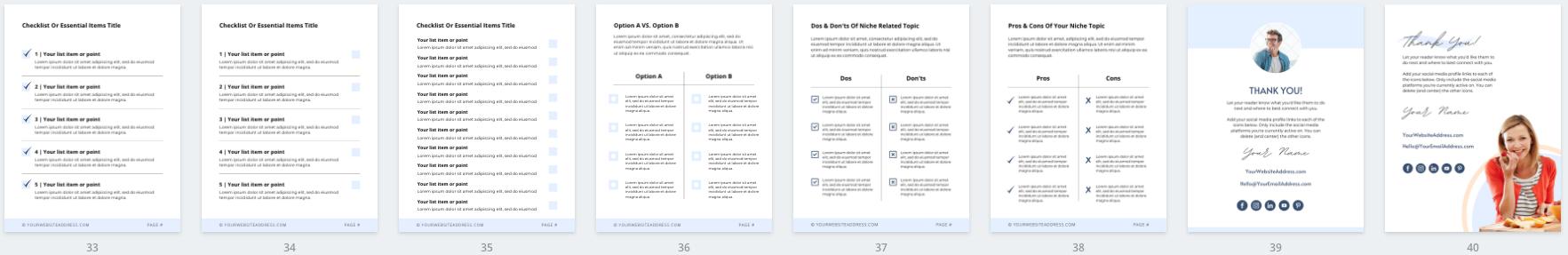 Lead Magnet & PDF Guide Canva Templates