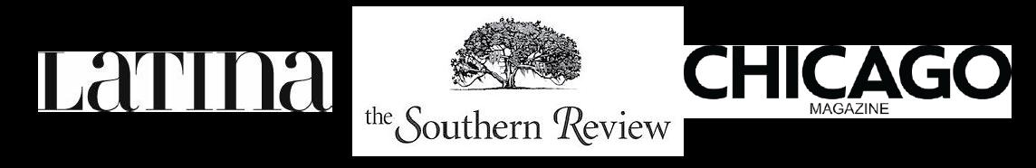 Latina Magazine, the Southern Review, Chicago Magazine logos