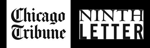 Chicago Tribune and literary magazine Ninth Letter logos