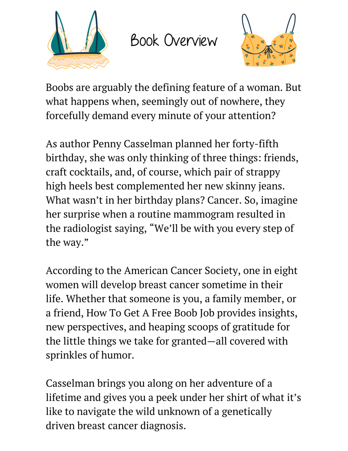 Book Overview for How To Get A Free Boob Job