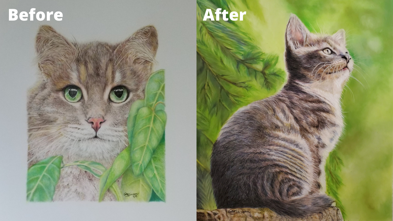 Patsy McDaniel Sirman - Before and After - Patreon - Bonny Snowdon Fine Art
