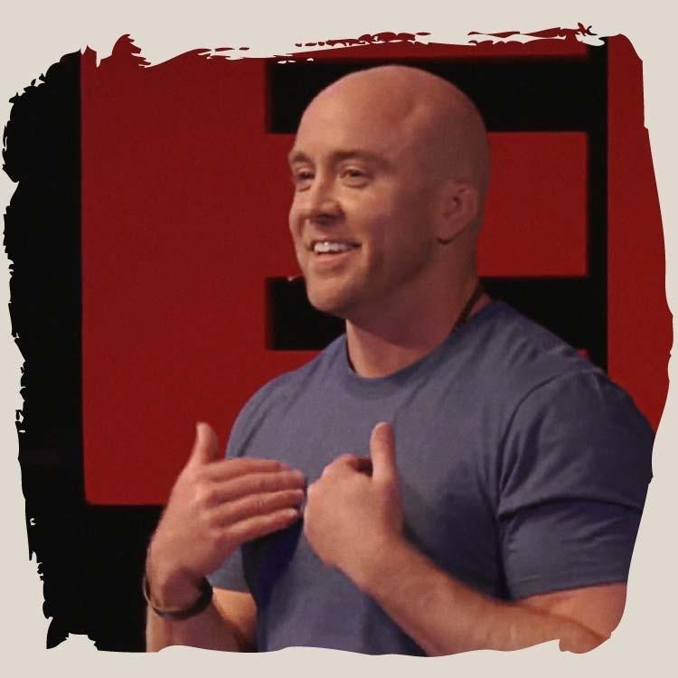 Traver Boehm giving a TEDx Talk