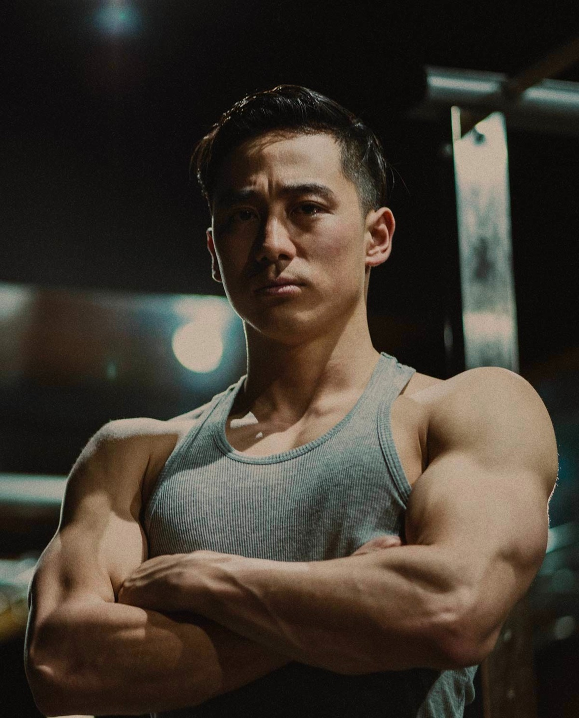 Muscular man at the gym