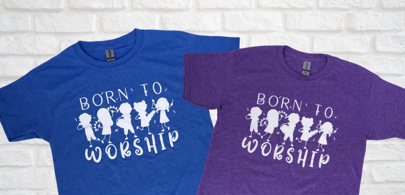BORN TO WORSHIP YOUTH TEES