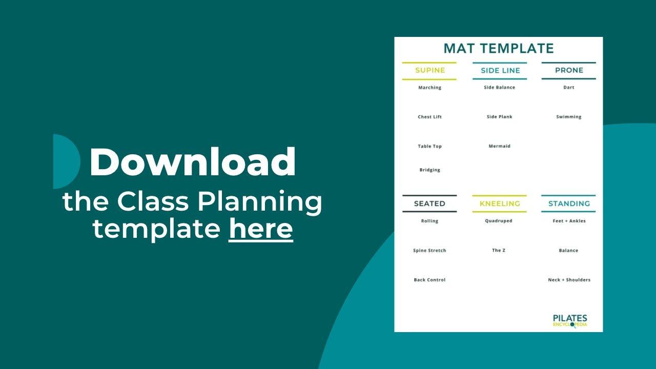 Pilates Class Planning Template