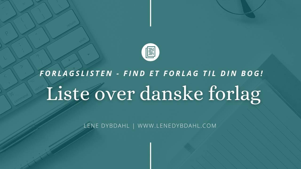 Liste over danske forlag