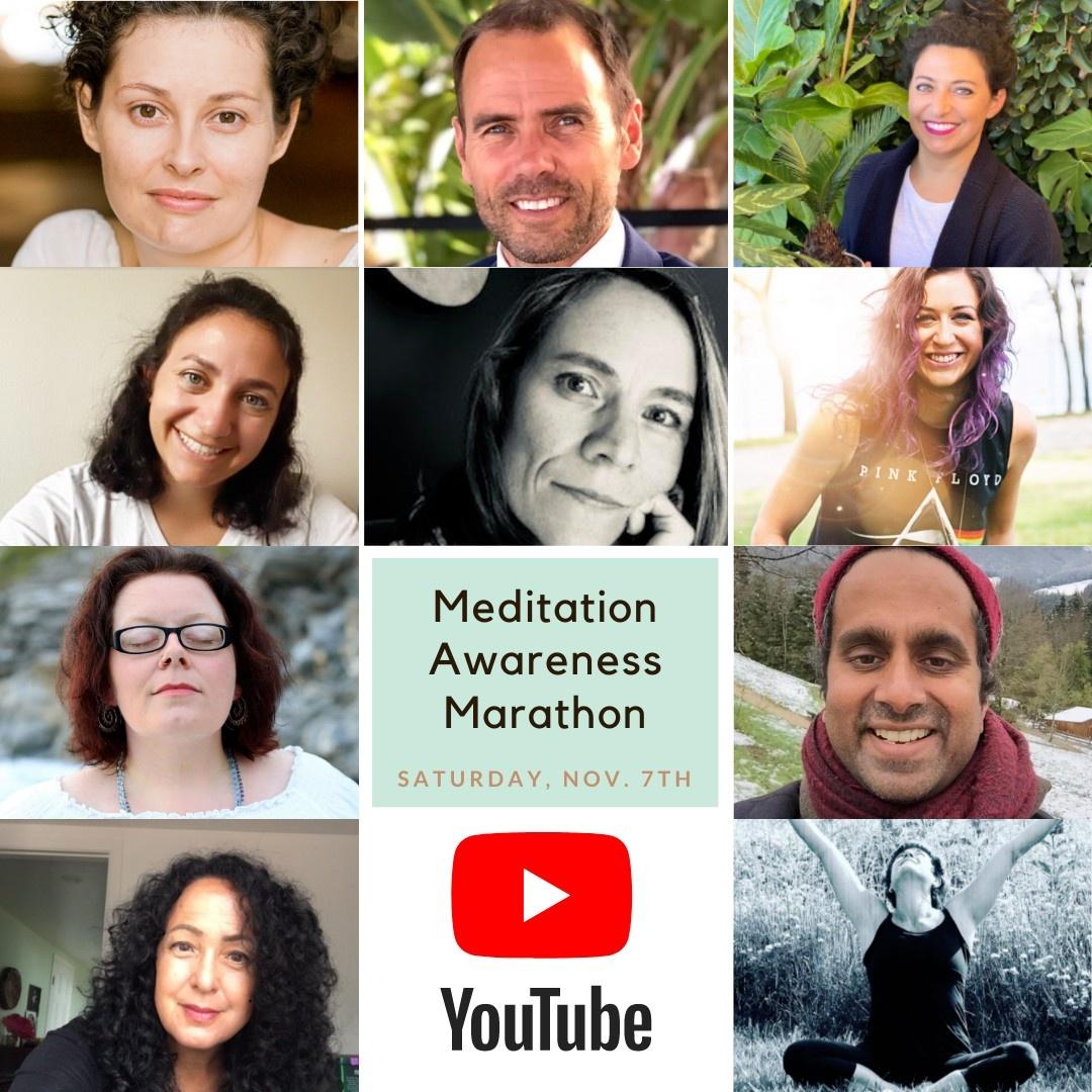 Aware Meditation Awareness Marathon Flyer