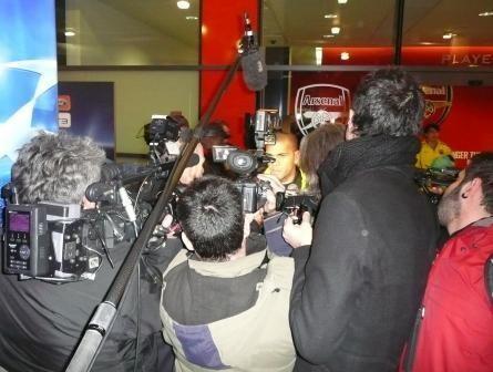 Media scrum Champions League