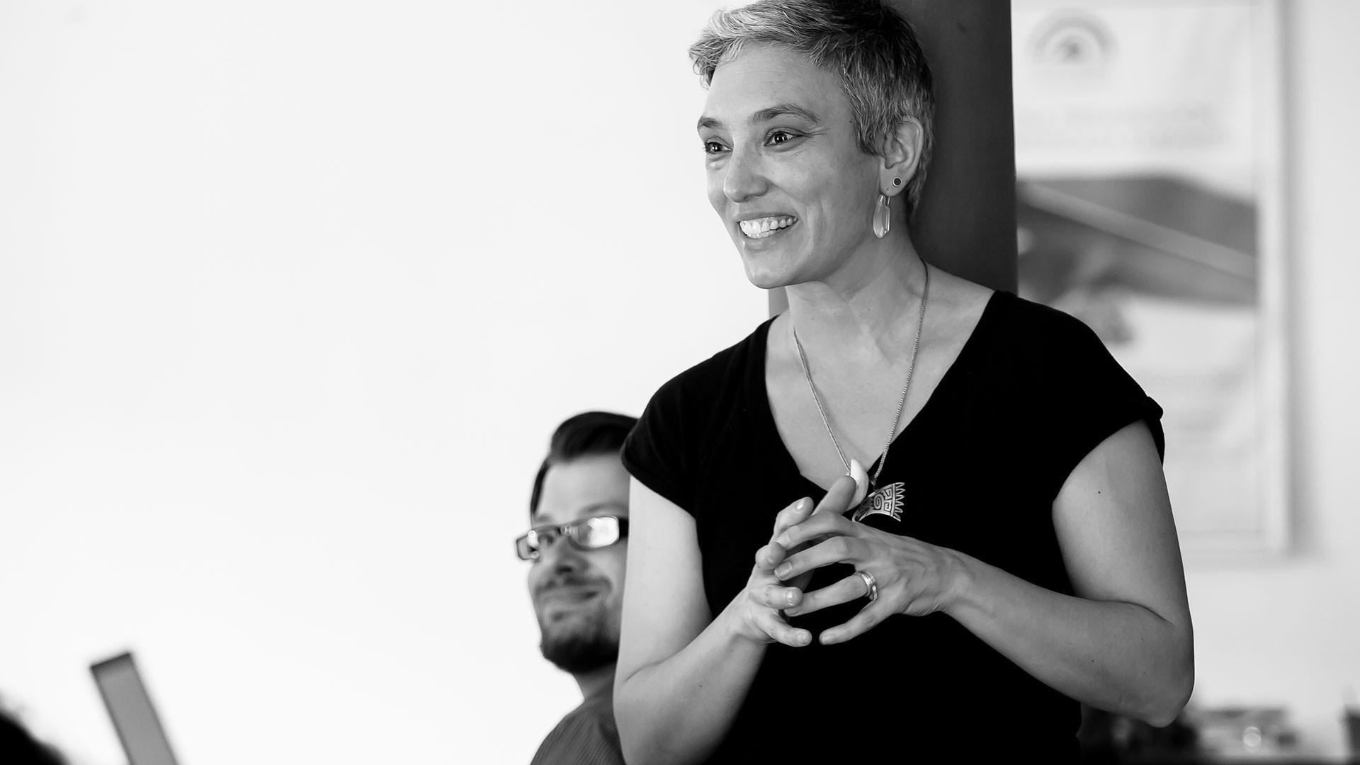 Christina presenting at a workshop