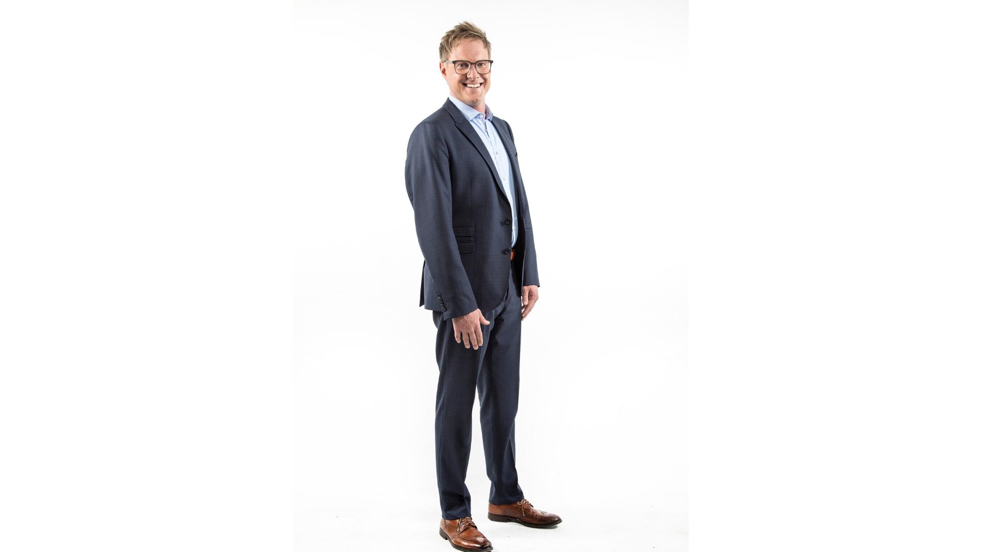 Andrew Davis, Standing, Suit
