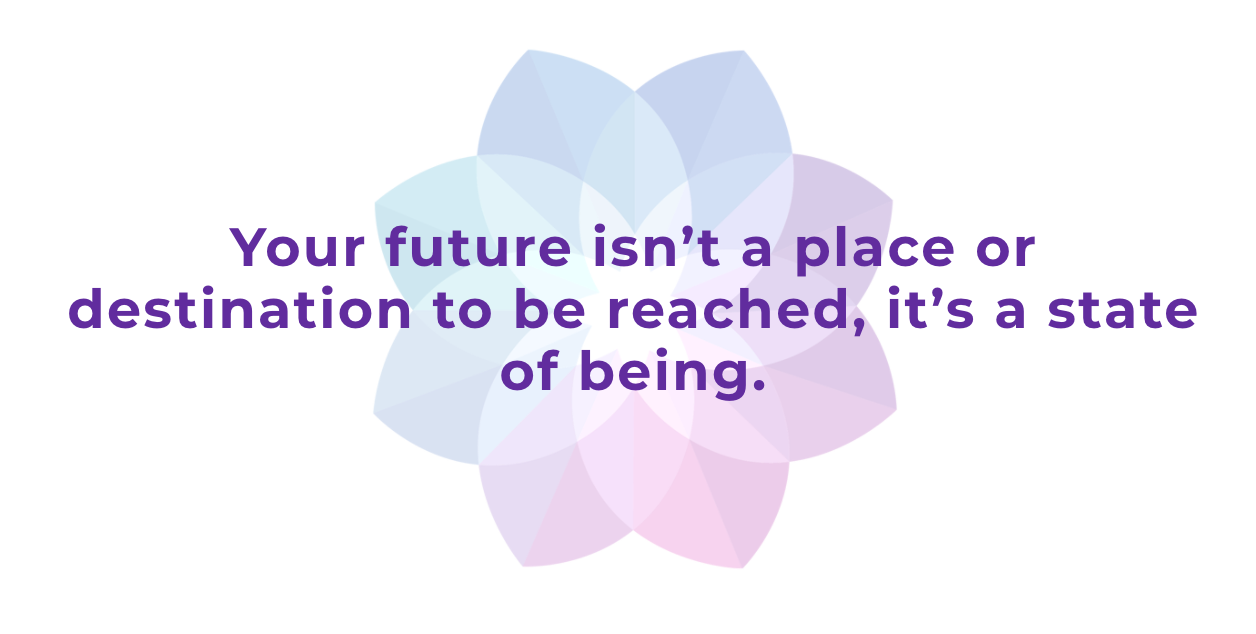 your future isn't a place or destination to be reach, it's a state of being