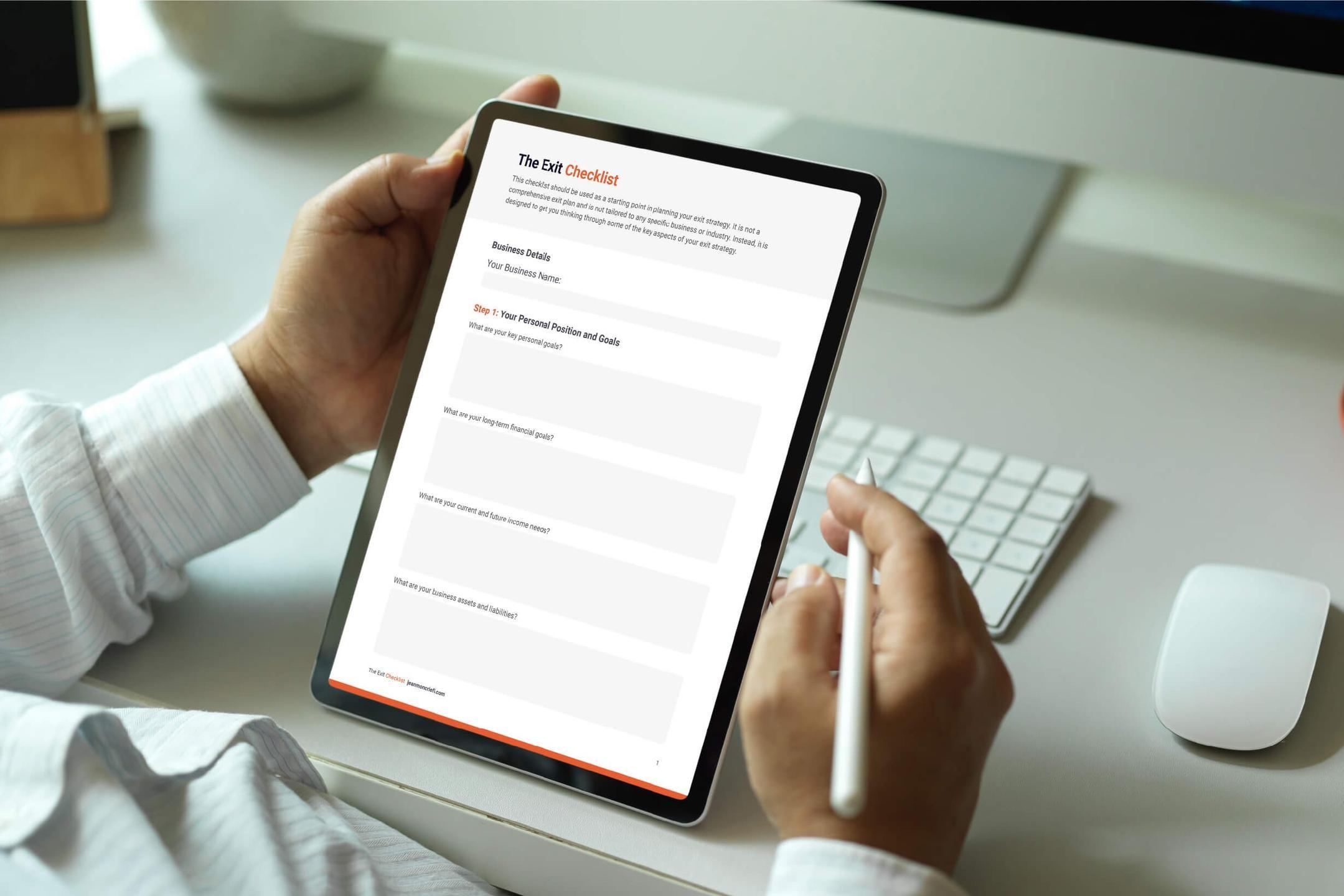 Business Exit Checklist