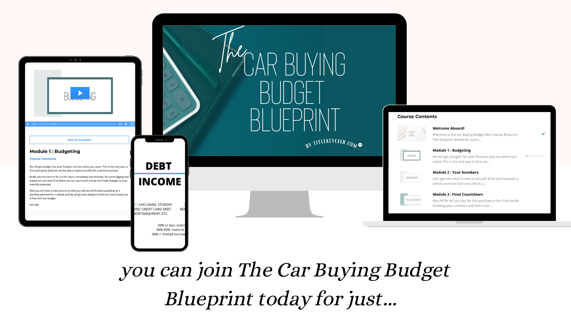 The Car Buying Budget Blueprint Course