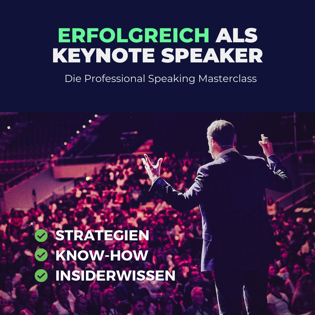 erfolgreich als keynote speaker