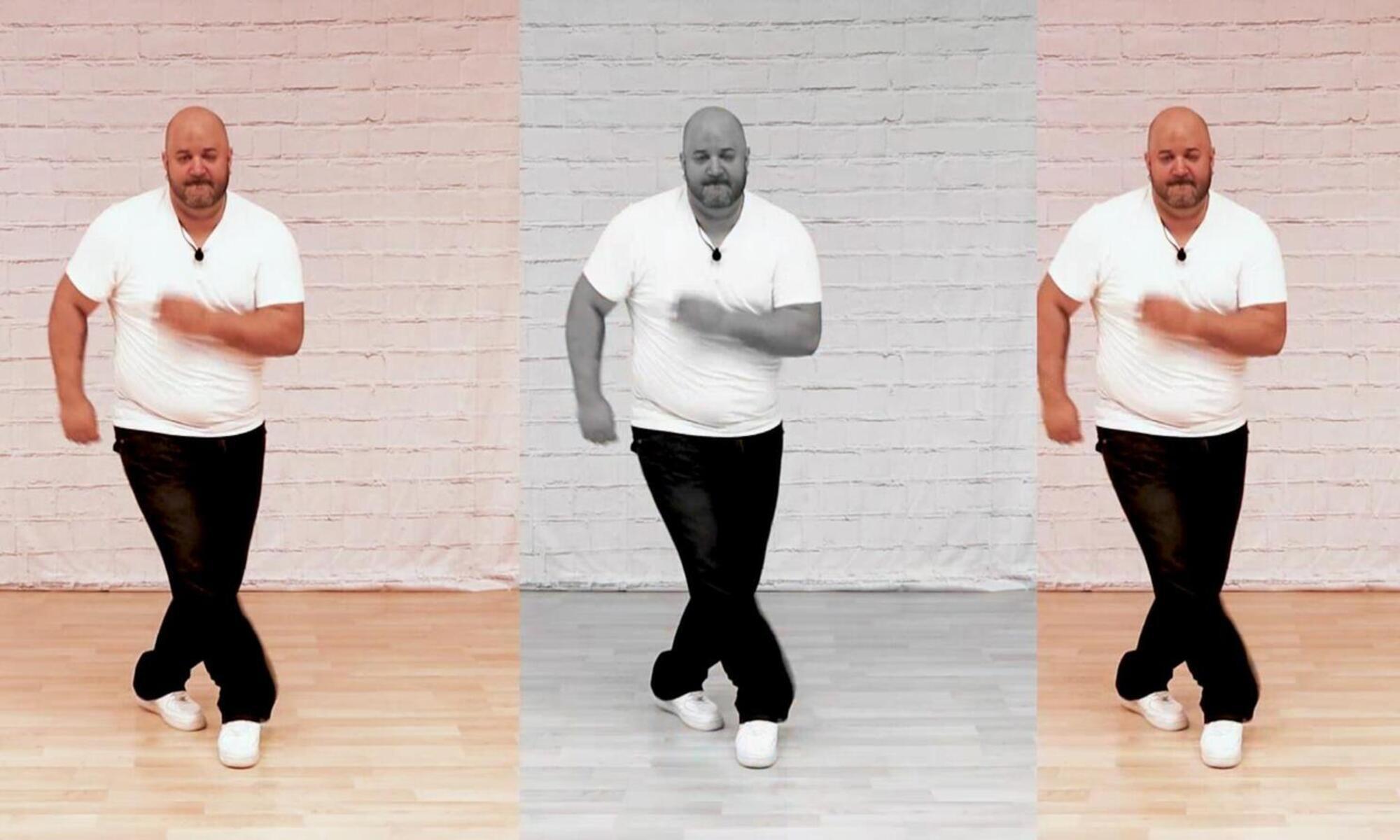 Salsa dancing shines and footwork
