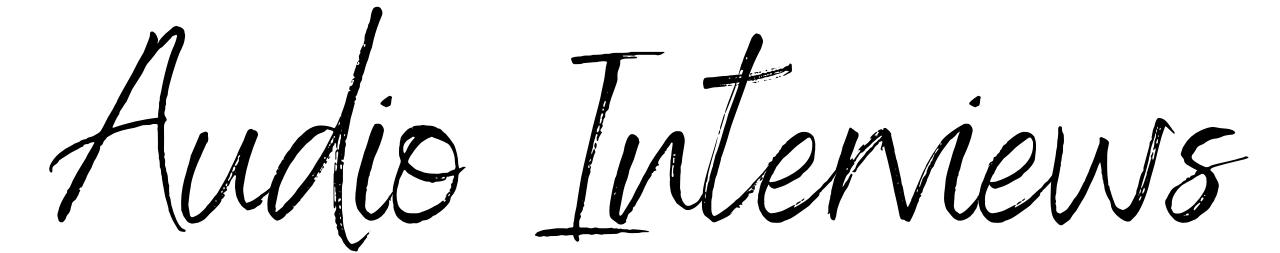 Elizabeth DeRobertis Audio Interviews