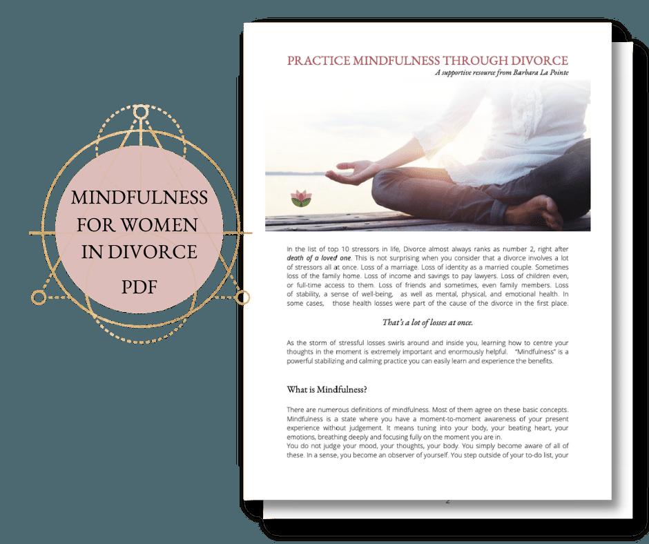 mindfulness women divorce