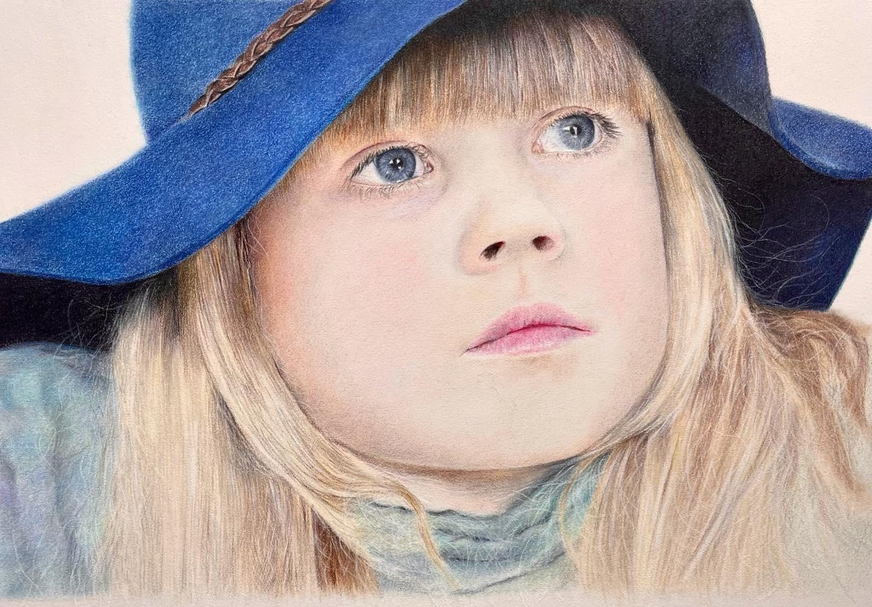 Girl in the Blue Hat - Tier Two - Patreon - Bonny Snowdon Fine Art