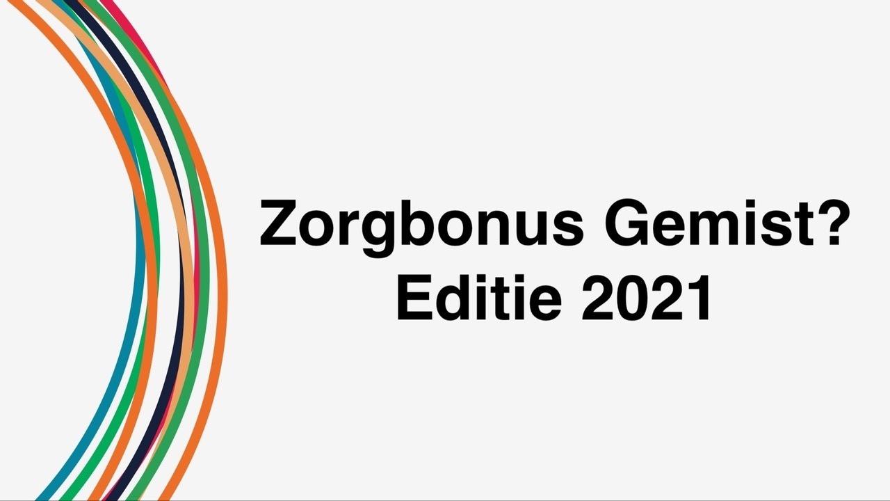 Zorgbonus gemist 2021