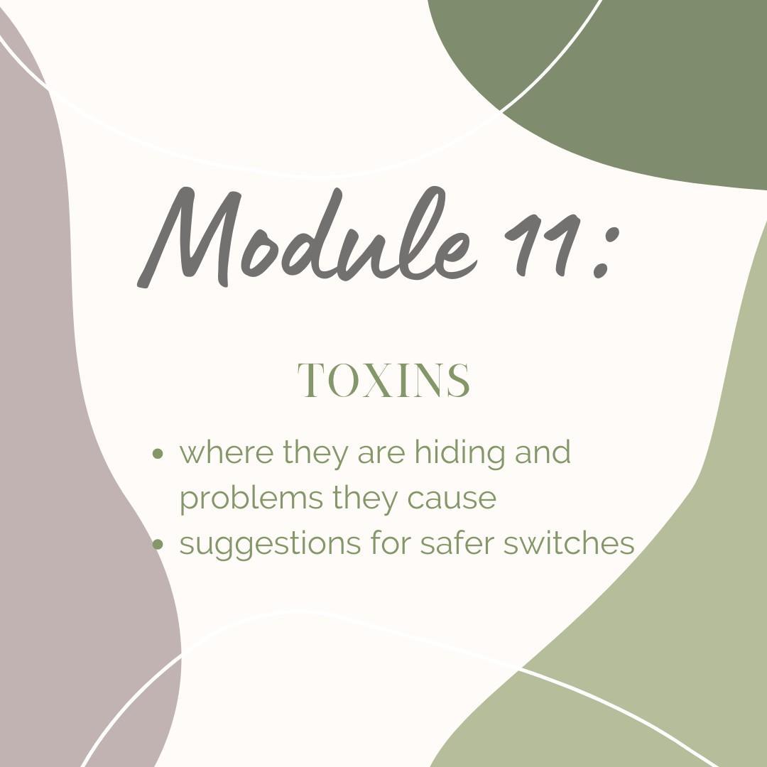 Module 11: Toxins