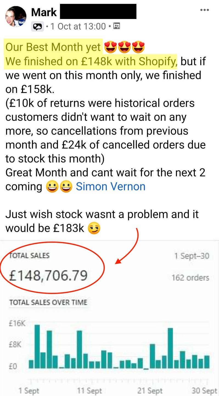 Mars first month High ticket UK drop shipping screenshot 11