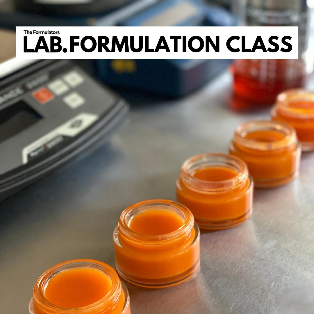 CBD Beauty Balm formulation class - The Formulators LAB