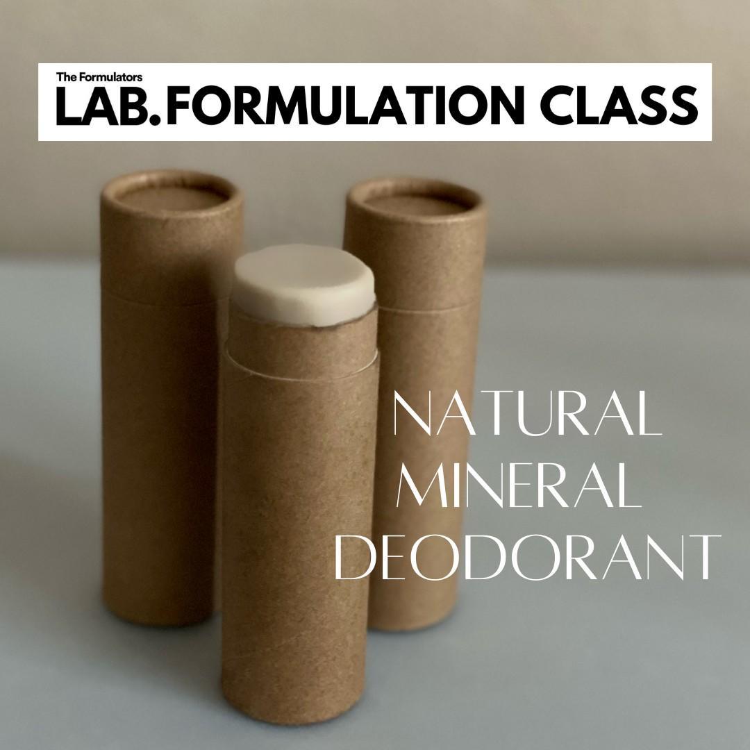 natural deodorant formulation class - The Formulators LAB
