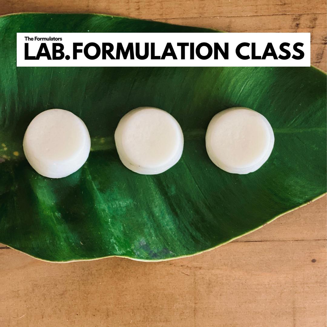 Facial Cleansing Pods formulation class - The Formulators LAB