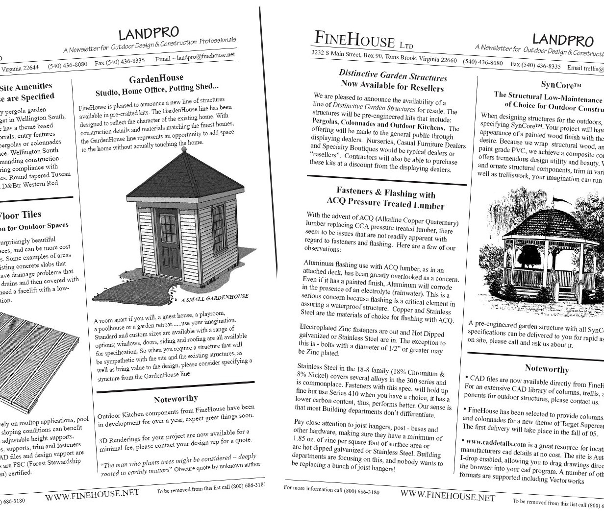News Letter about garden architecture