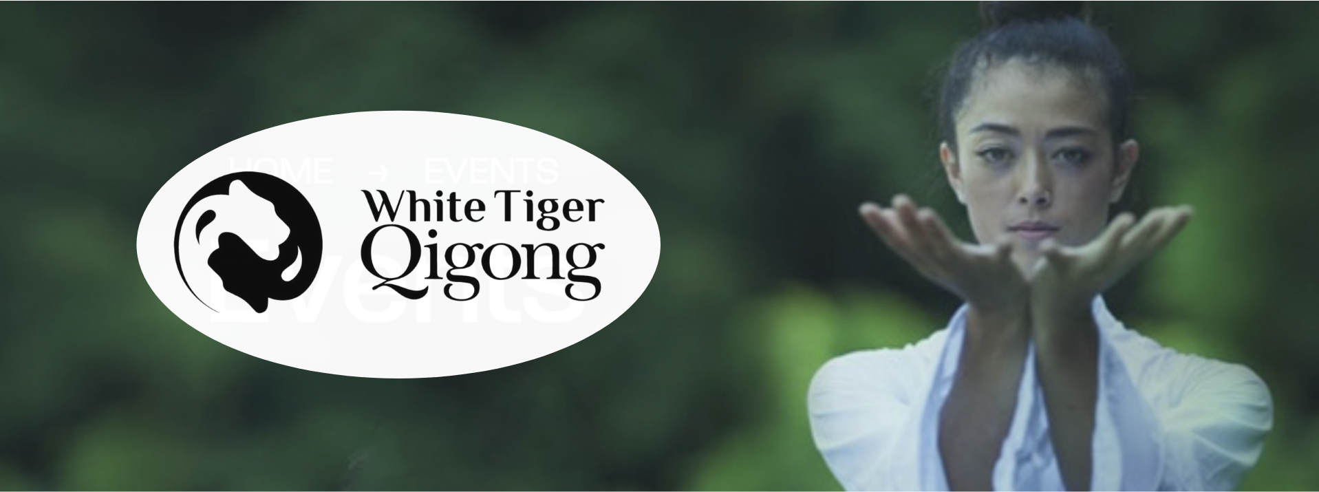 WHite Tiger Qigong woman practiticing