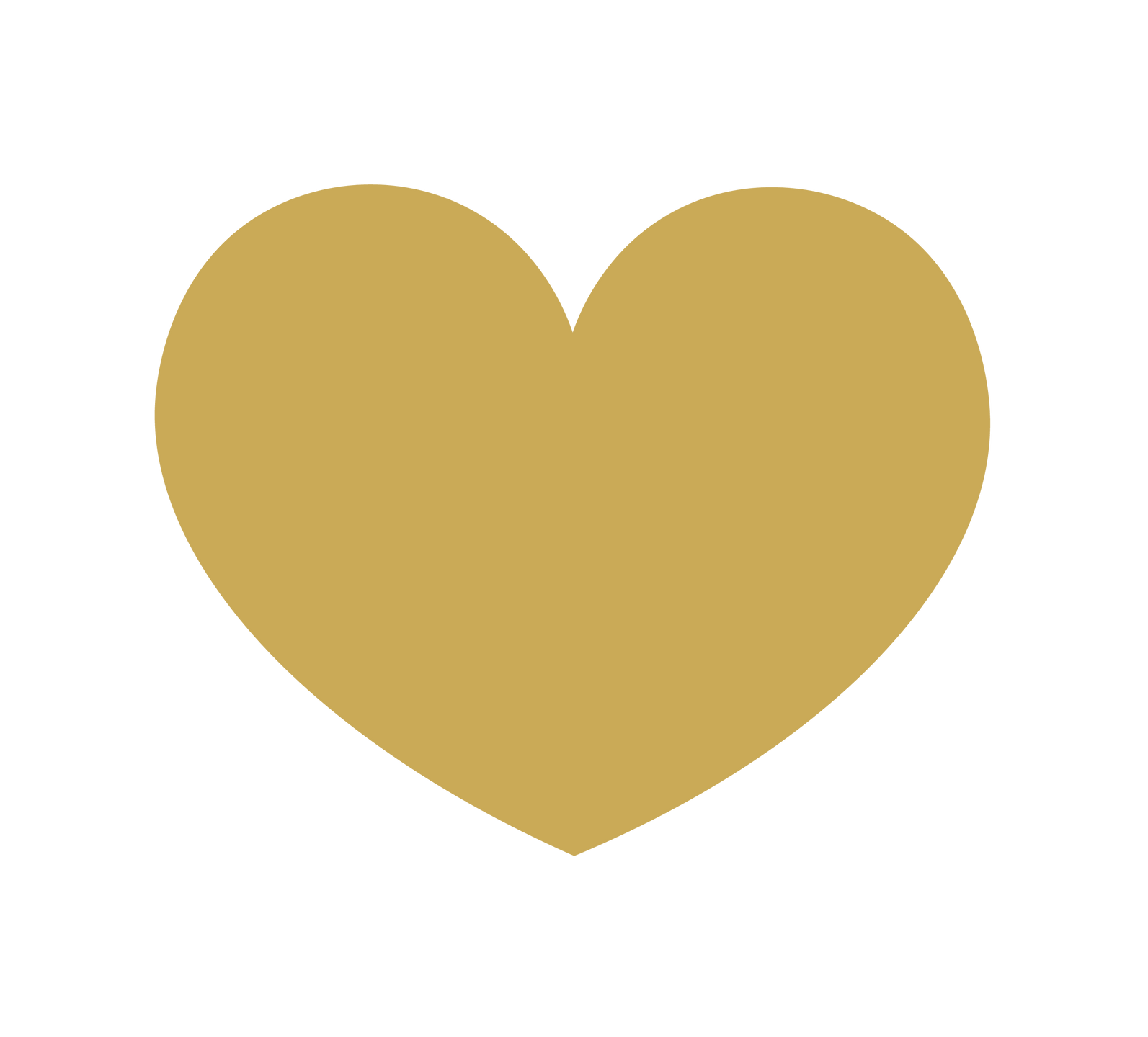 Graphic of a Golden Heart