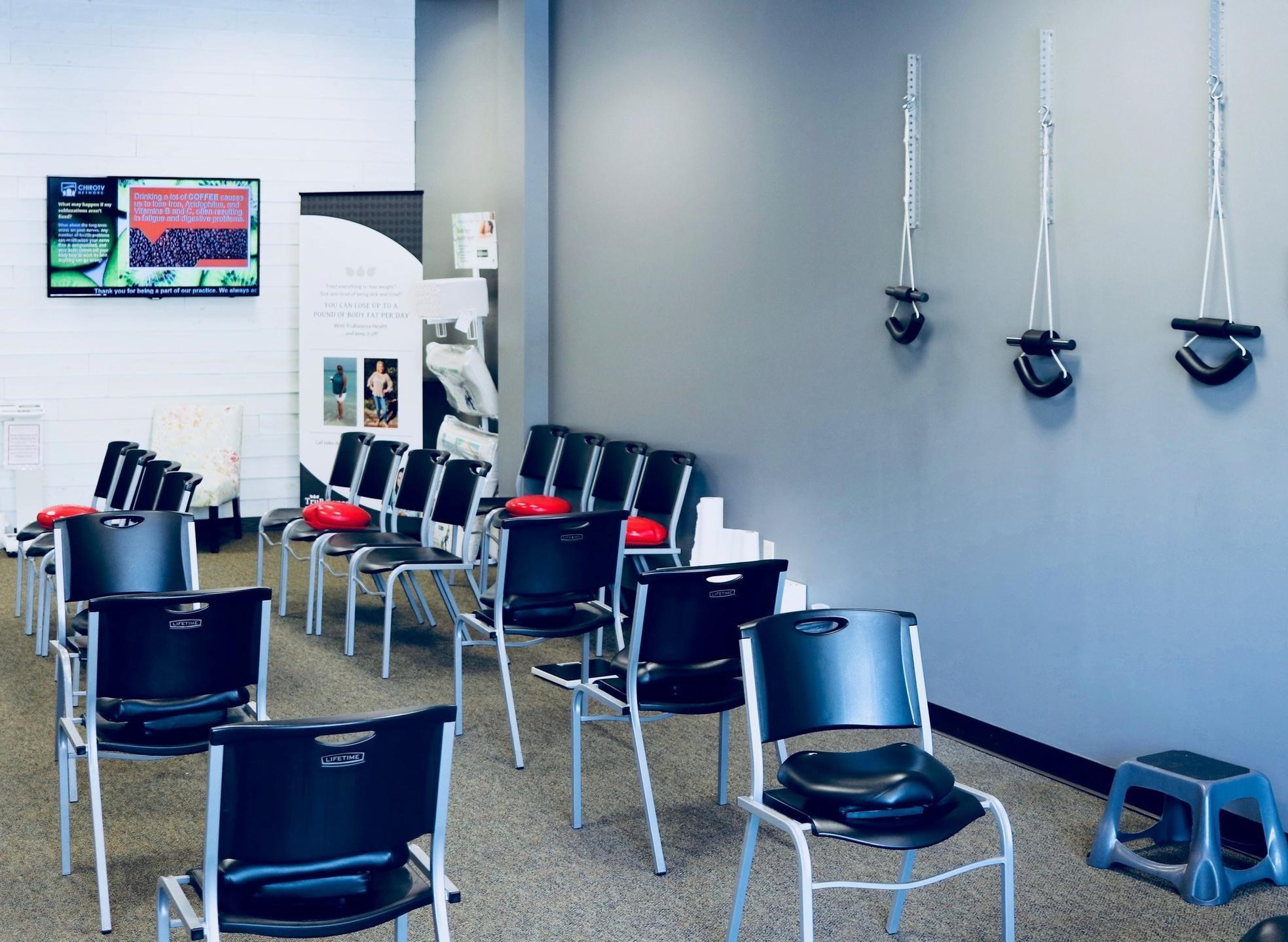 Chiropractic wellness center lobby
