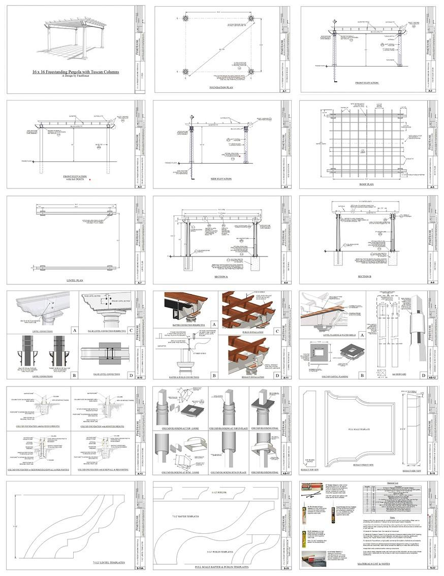 What is included with the Pergola plans