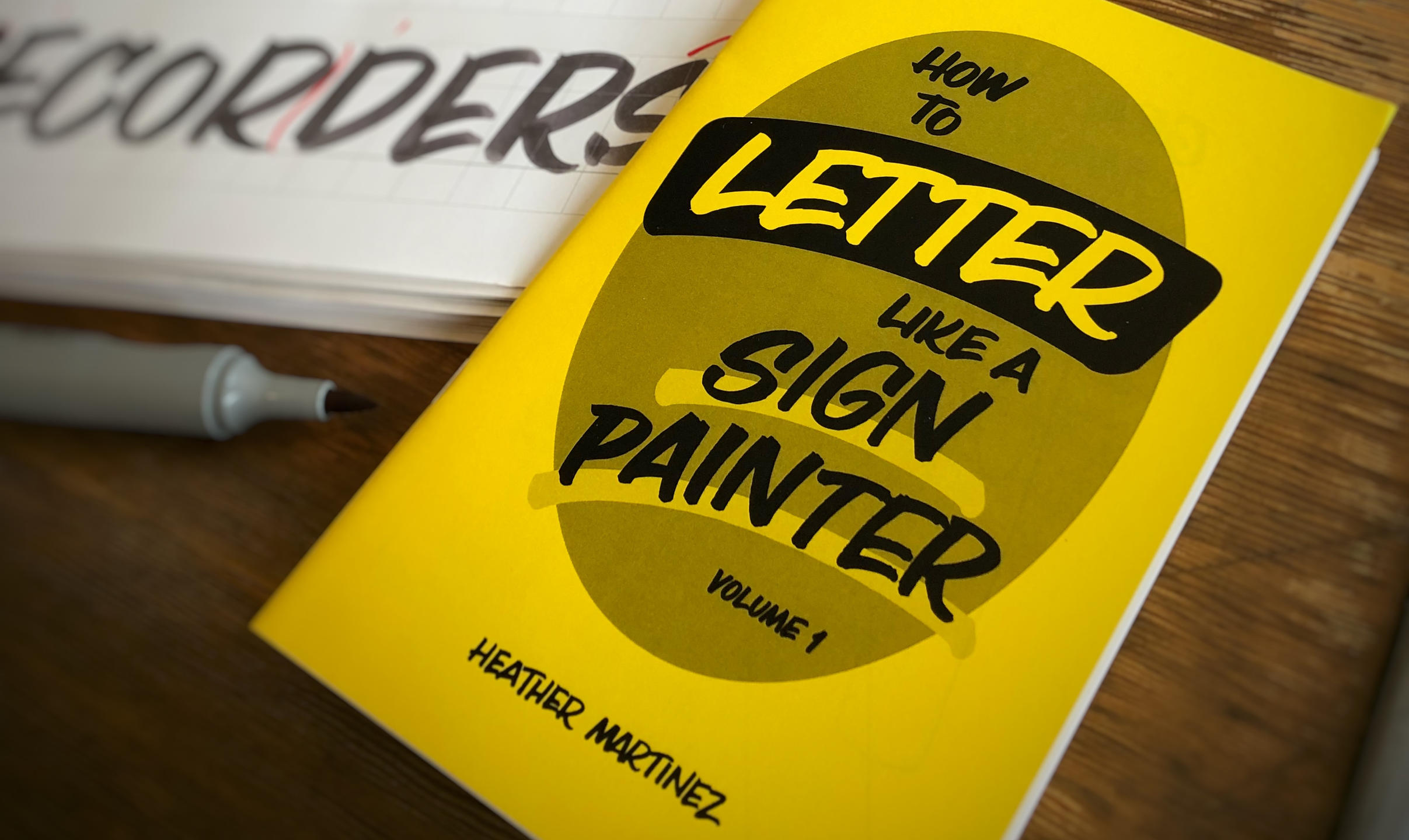 Zine how to letter like a sign painter