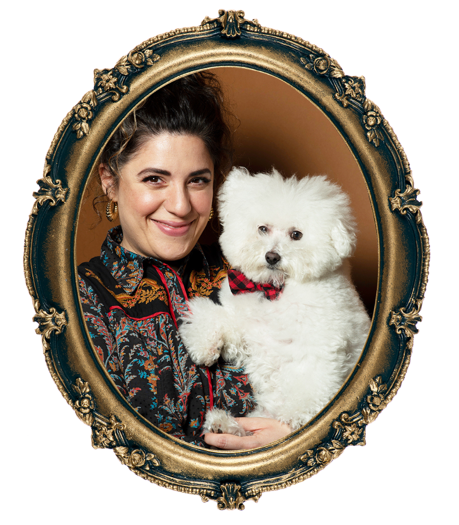 Celebrity Dog Groomer Jess Rona and her dog Meemu