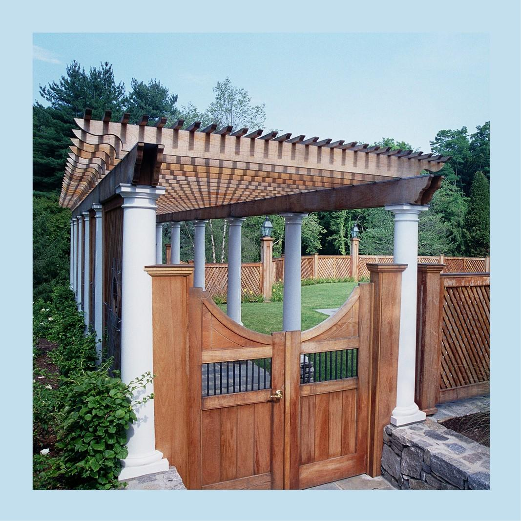 Pergola with gate picture for building with kits