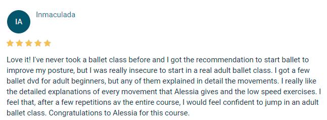 beginner ballet course testimonial 16