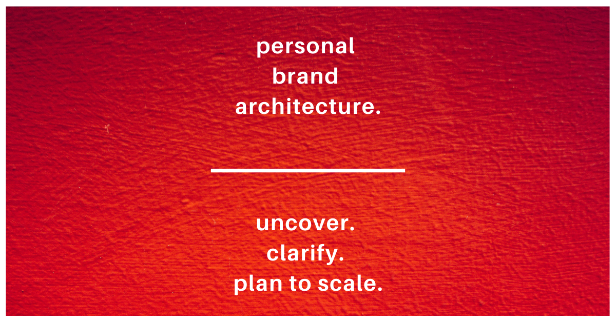Personal Brand Architecture - Brand of a Leader
