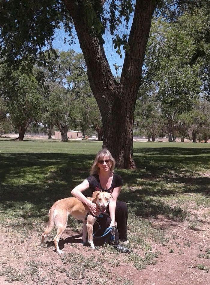 Milli Thornton, Lobos Trails, Albuquerque, New Mexico with Thea