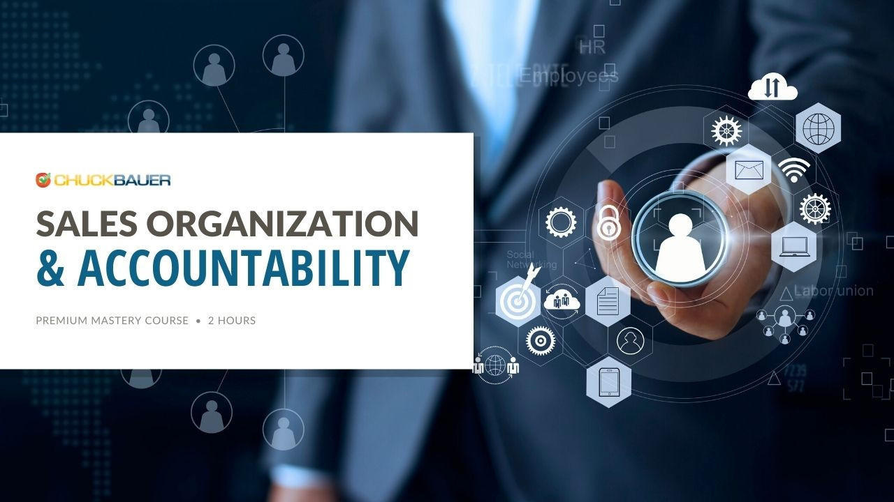Sales Organization & Accountability - Premium Online Sales Training & Business Development Course - Business person with a digital interface overlaying their hand showing an organized contact file for maximum efficiency.