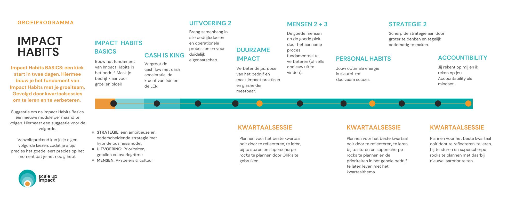 Infographic van het Impact Habits programma van Scaleup Impact