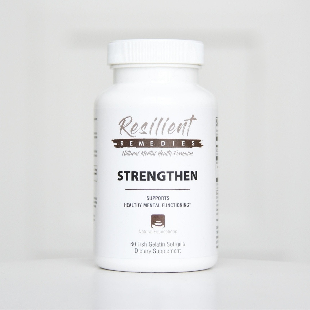 Shop Strengthen Omega-3 at the Natural Mental Health Store.