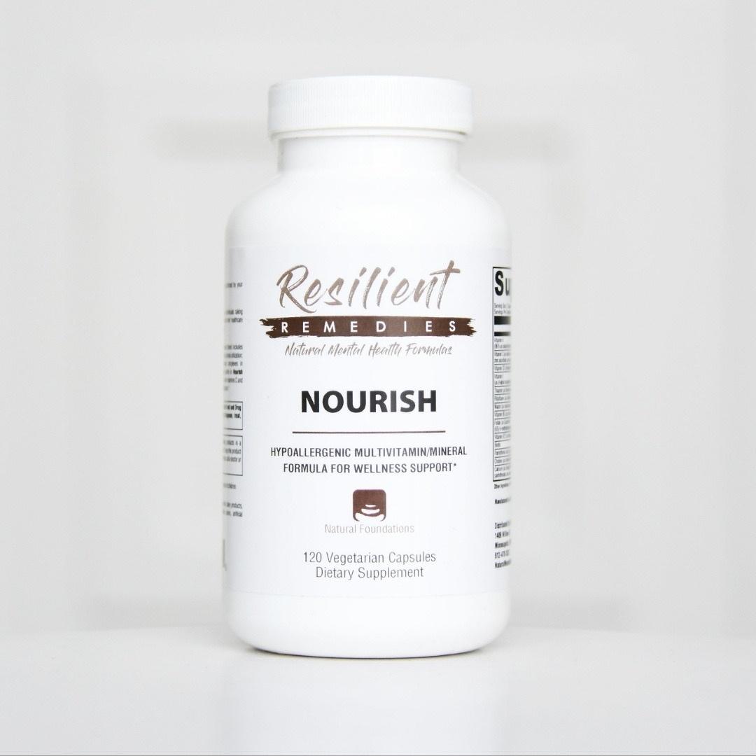 Shop Nourish Multivatimin/Mineral at the Natural Mental Health Store.