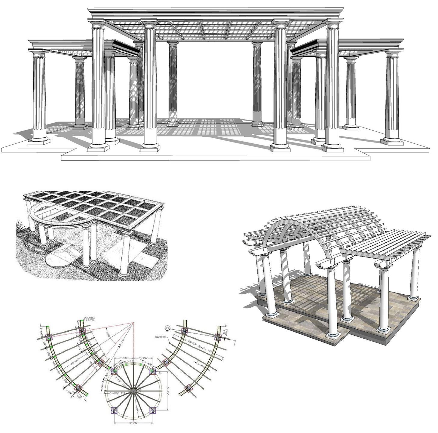 Custom pergola renderings