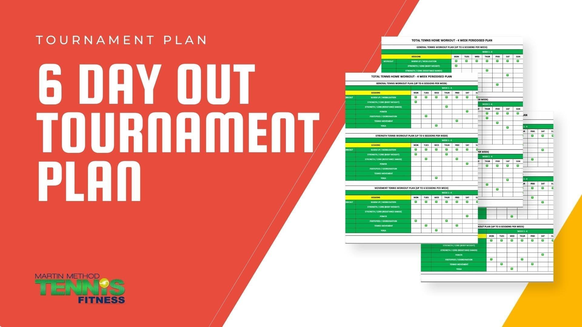 Tennis Tournament Plan